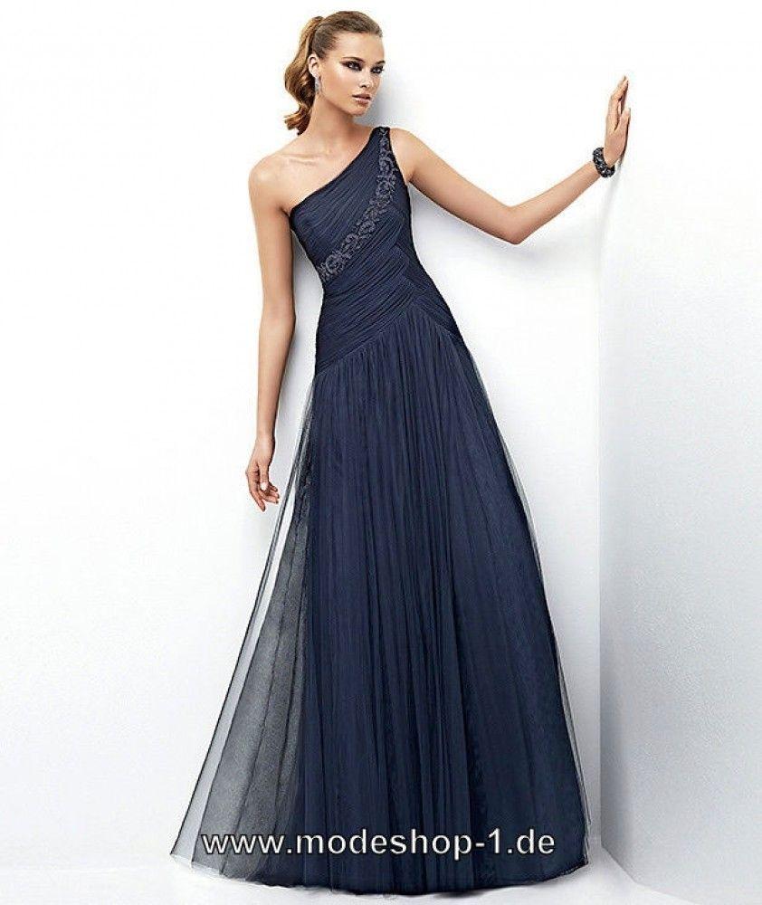 Dunkel Blaues One Shoulder Abendkleid  Abendkleid, Blaue