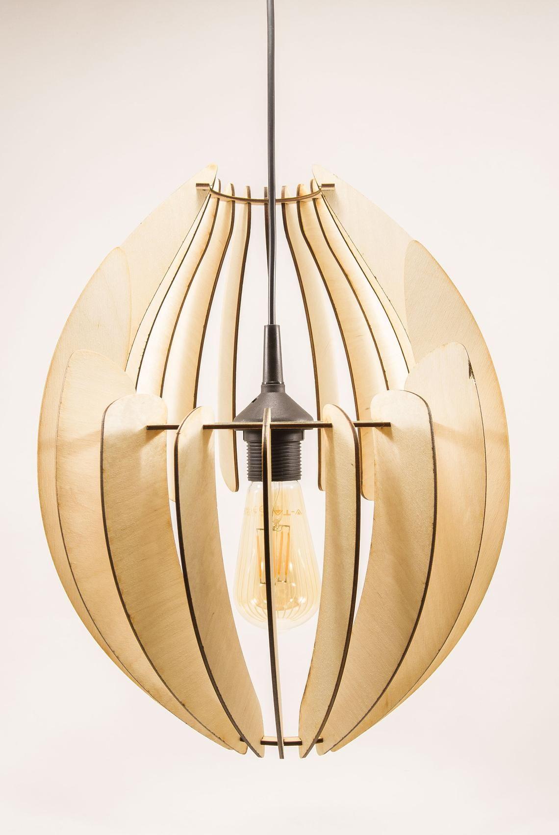 Wooden Lamp Shade Wood Lamp Hanging Lamp Pendant