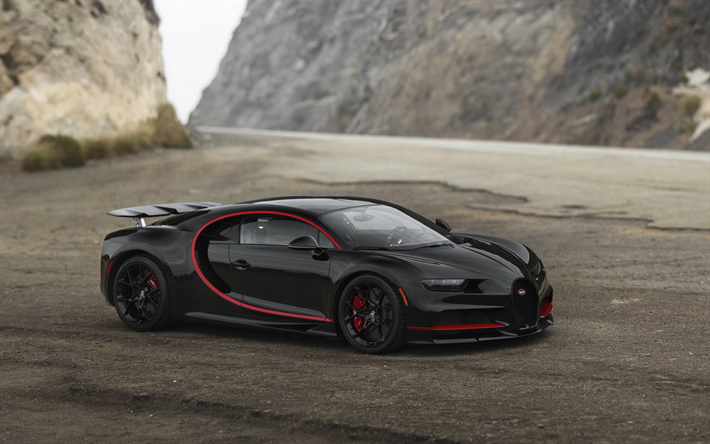 Download Wallpapers Bugatti Chiron 2017 Hypercar Tuning Supercar Black Red Sports Coupe Chiron Vag Besthqwallpapers Com Bugatti Chiron Bugatti Chiron 2017 Bugatti