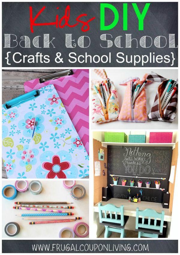 Kids Diy Back To School Crafts School Supplies Diy Ideas Back