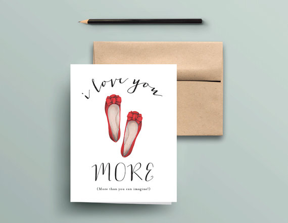 I Love You More Card/Daughter Card;  Texture Design Co.