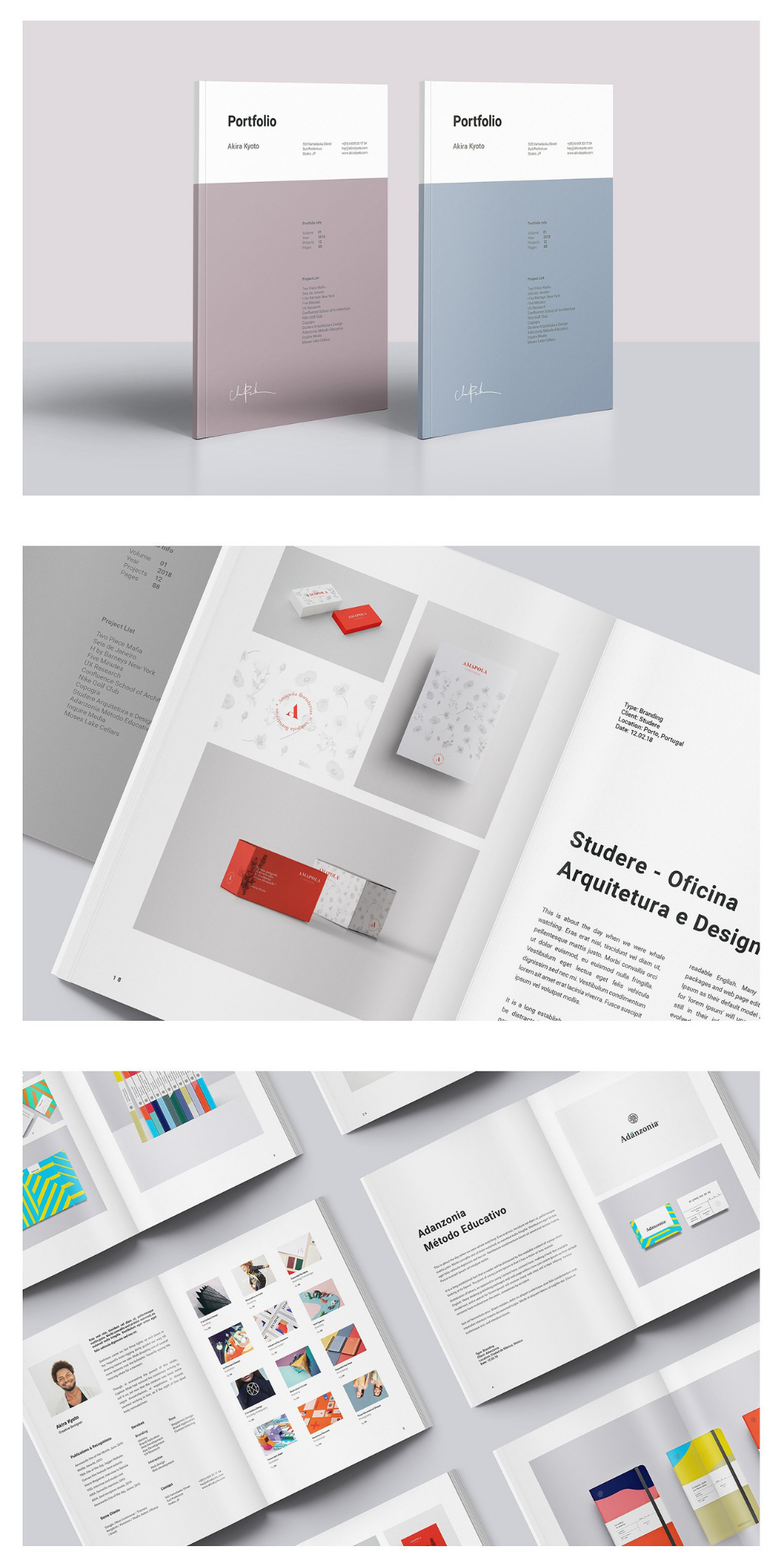 Minimal Portfolio Template Portfolio Design Layouts