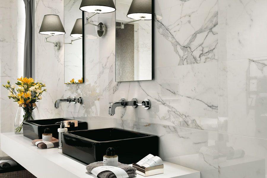 Marble Tiles For Bathroom Walls Flooring Marvel Atlas Concorde Calacatta Extra Shiny Tiles