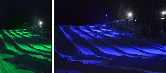 whats new in wisconsin dells in 2016 christmas mountain village introduced cyber tubing - Christmas Mountain Tubing