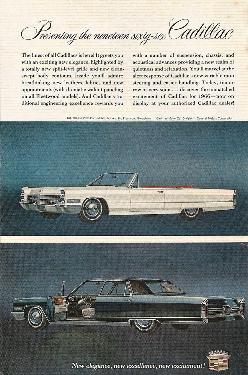 1965 Cadillac De Ville Convertible Automobile Dealership Promotional Note Card