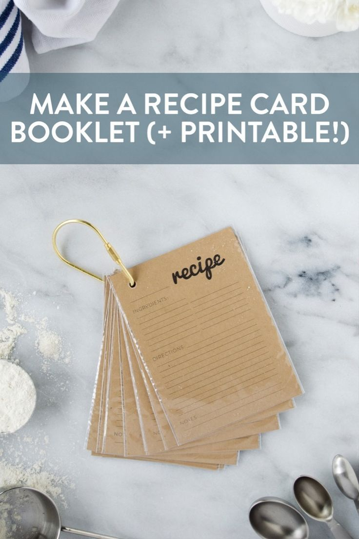 How to make a key ring recipe card holder plus free
