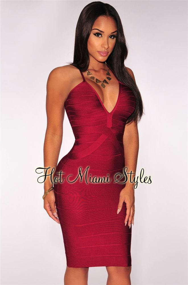 50633814de Red Wine Crisscross Bandage Dress Womens clothing clothes hot miami styles  hotmiamistyles hotmiamistyles.com sexy club wear evening clubwear cocktail  party ...
