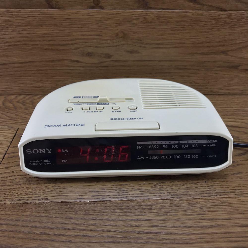 Details about Sony Dream Machine ICF-C270 Alarm Clock radio VGC ...