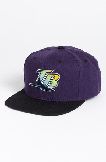 Men s American Needle  Tampa Bay Rays - Back 2 Front  Snapback Baseball ... a27355c3437