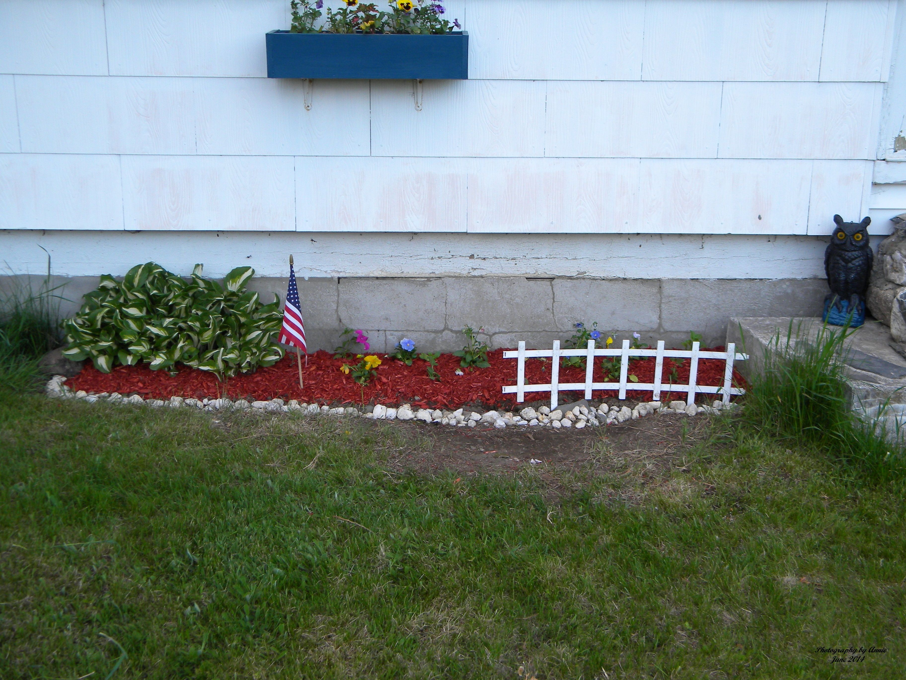 One of the flower gardens I finished today.