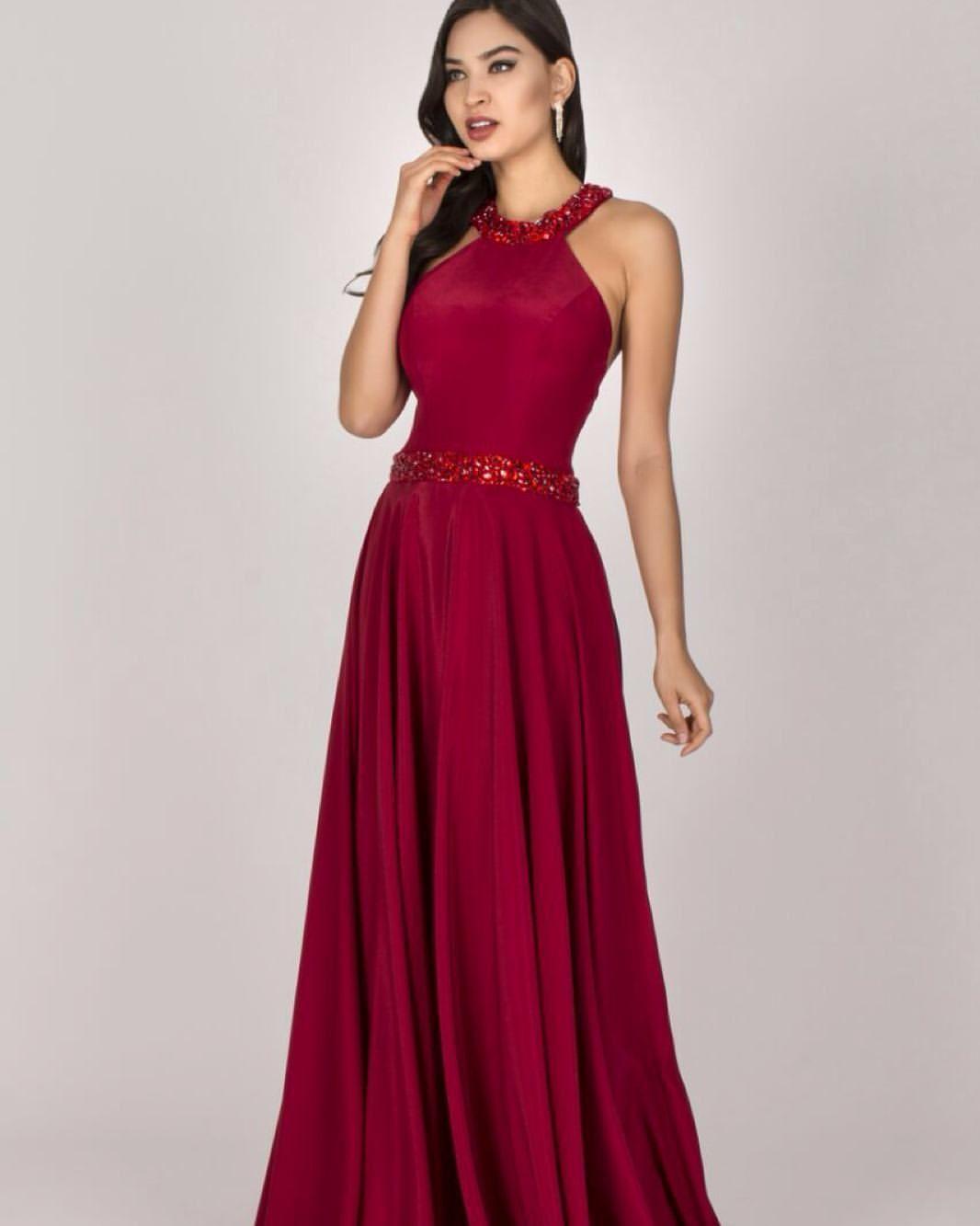 Vestido De Festa Longo Madrinha 2020 Vermelho No Rj Para Alugar