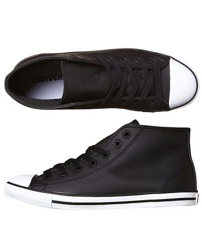 CONVERSE CHUCK TAYLOR ALL STAR DAINTY LEATHER MID SHOE - BLACK
