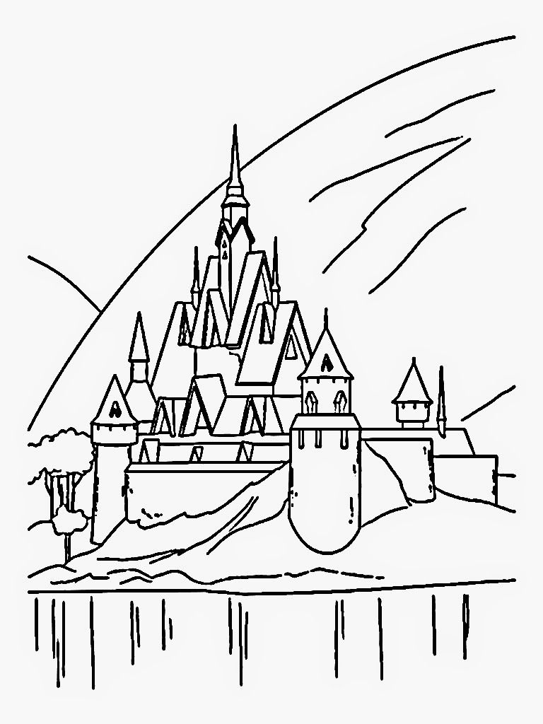 Download Free Frozen Coloring Pages Ice Castle