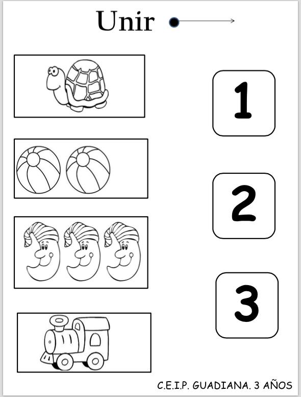 Los Ninos As Deberan De Unir Cada Objeto Con El Numero Que Actividades De Matematicas Preescolares Fichas De Preescolar Actividades De Aprendizaje Preescolares