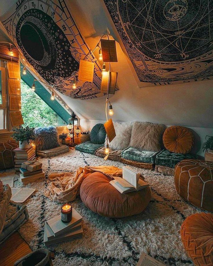 Bohemio, último y elegante diseño de decoración del hogar e ideas de estilo de vida