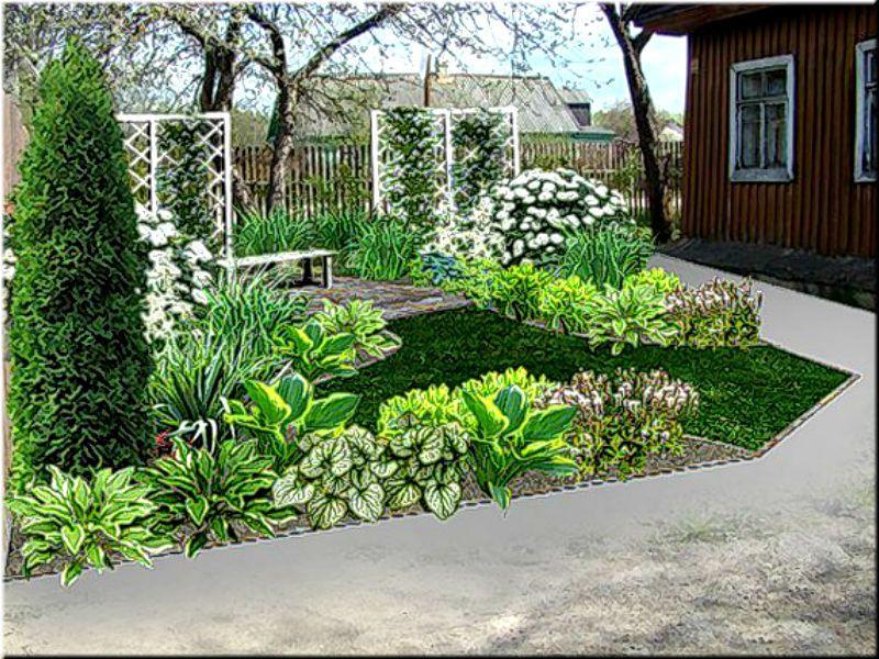 оформление палисадника фото | Палисадники, Дизайн сада ...