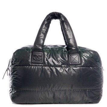 161ec6bfd8 Chanel Quilted Nylon Coco Cocoon Small Bowler Blue Tote Bag $1,750 ...