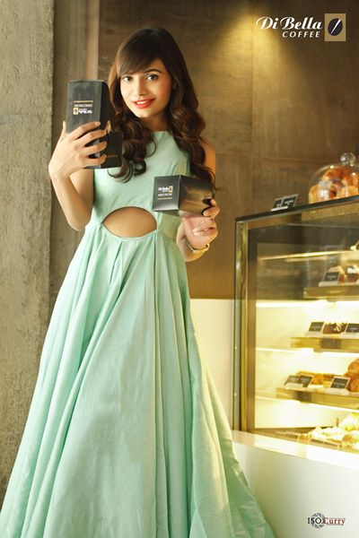 60c17bd2 mint gown , cutout gown , pool party outfit, mehendi outfit guest