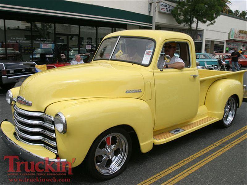 Yellow Classic Truck Classic Pickup Trucks Old Pickup Trucks
