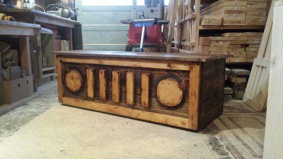 Awesome Wood Art Chest Toy Storage Box Bench Dark Walnut Burnt Machost Co Dining Chair Design Ideas Machostcouk