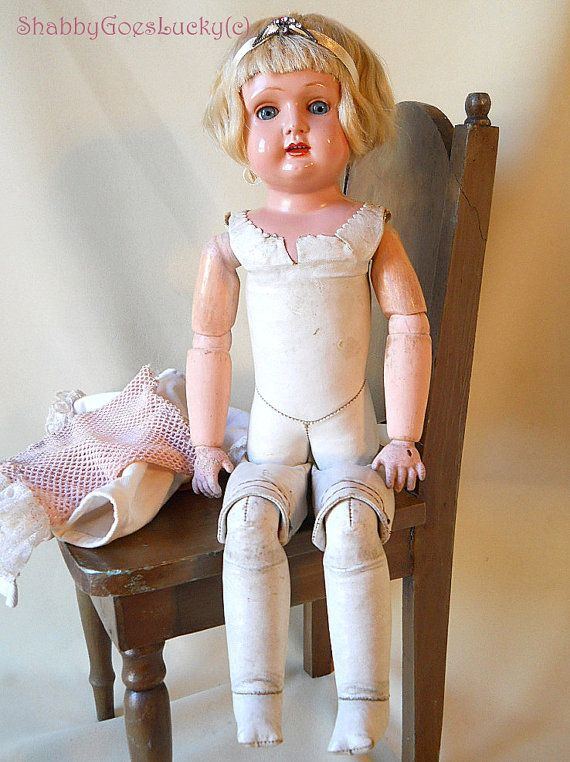 Antique German Doll 1910s Marked Bruno Schmidt Celluloid