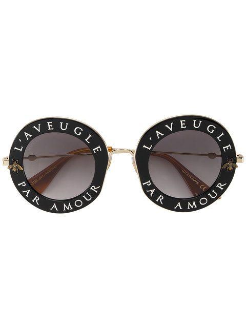 9eb8bb7b054fc Gucci Eyewear Lunettes De Soleil Oversize - Farfetch