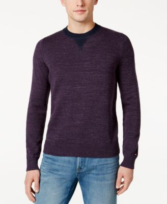 TOMMY HILFIGER Tommy Hilfiger Men'S Space-Dyed Sweater. #tommyhilfiger #cloth # sweaters