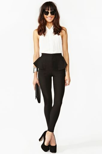 Peplum Skinny Pant . Love the outfit <3