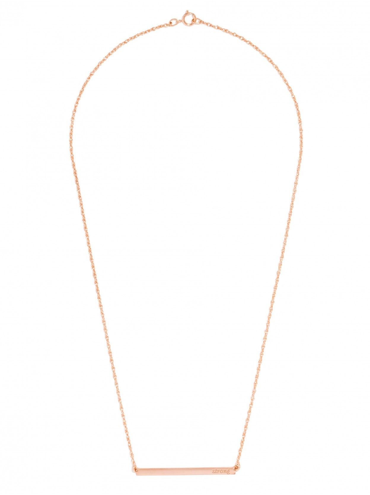BaubleBar - Asymmetrical Bar Nameplate