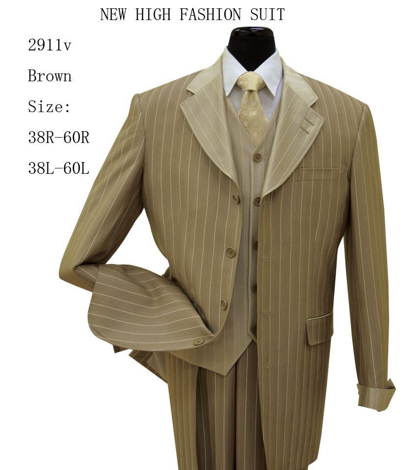 New Men/'s 3 piece Elegant and Classic Stripes Suits 4 Colors Size 38R~60L