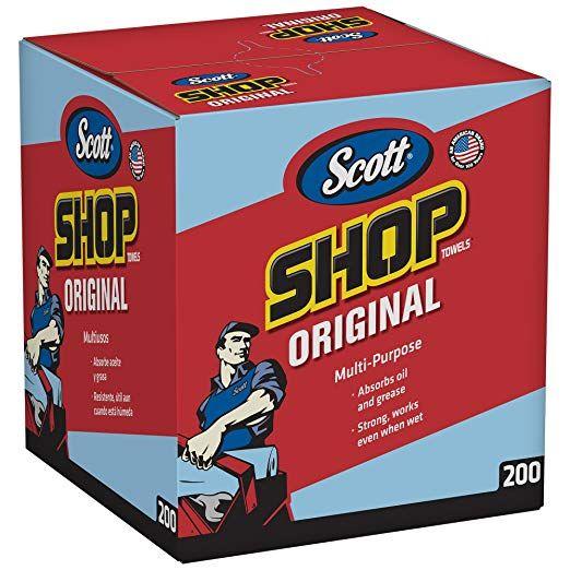 Scott Shop Towels Original (75190), Blue, Pop-Up Dispenser