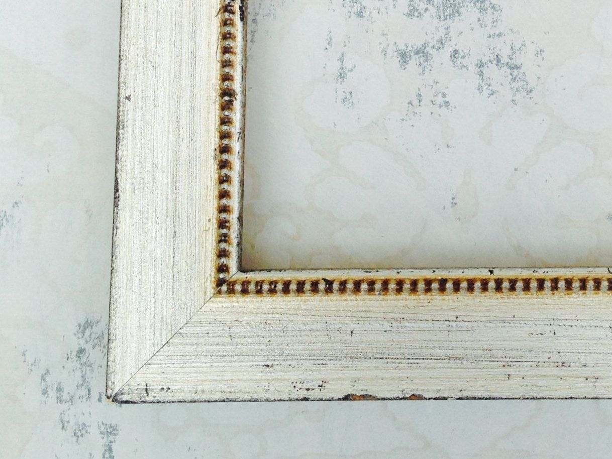 Distressed SILVER PICTURE FRAMES 4x4, 4x6, 5x5, 5x7, 8x8, 8x10, 8.5 ...