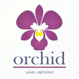 Sold Logo Orchid Stocklogos Com Flower Logo Orchids Logos