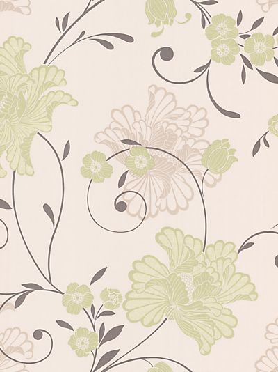 Buy Graham & Brown Taffetia Wallpaper, Green, 59026 online at JohnLewis.com - John Lewis £26.50