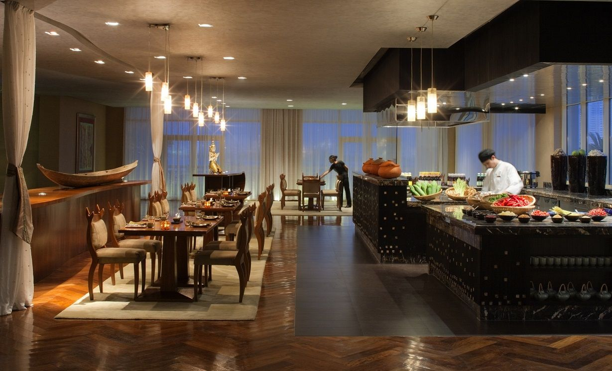 Live Cooking Stations Isaan Private Dining Room Open