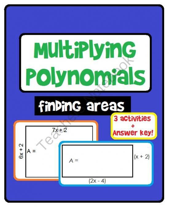 Teachers Notebook Polynomials Activity Polynomials Multiplying Polynomials