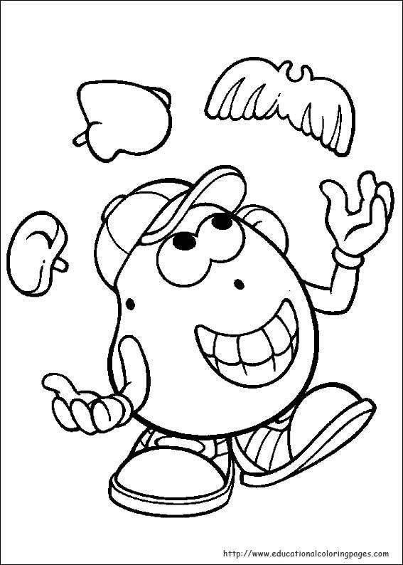 Mr Potato Head coloring page | Mr Potato Head | Pinterest