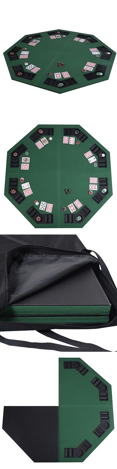 Card Tables And Tabletops 166572: Poker Table Top Texas Holdem Trademark  Octagon Oval New 48