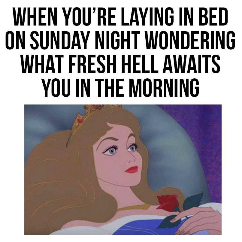 Sunday Night Blues Good Night Funny Work Memes Laughing So Hard