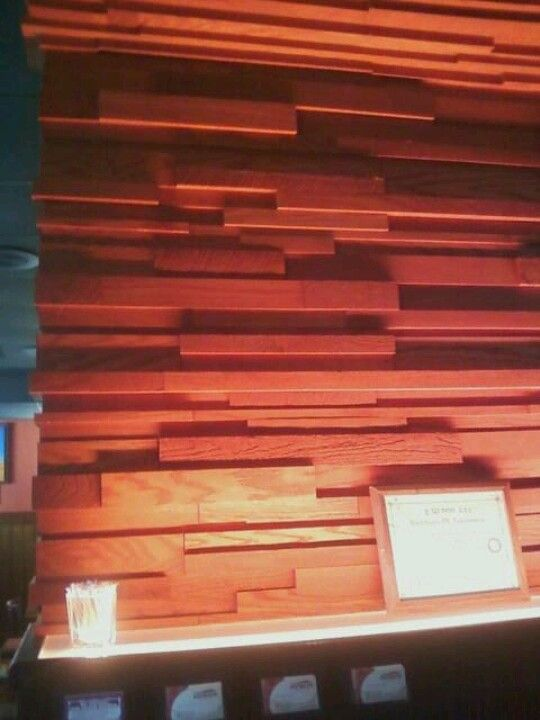 This is found at outback...these are actual lines creating a wall.