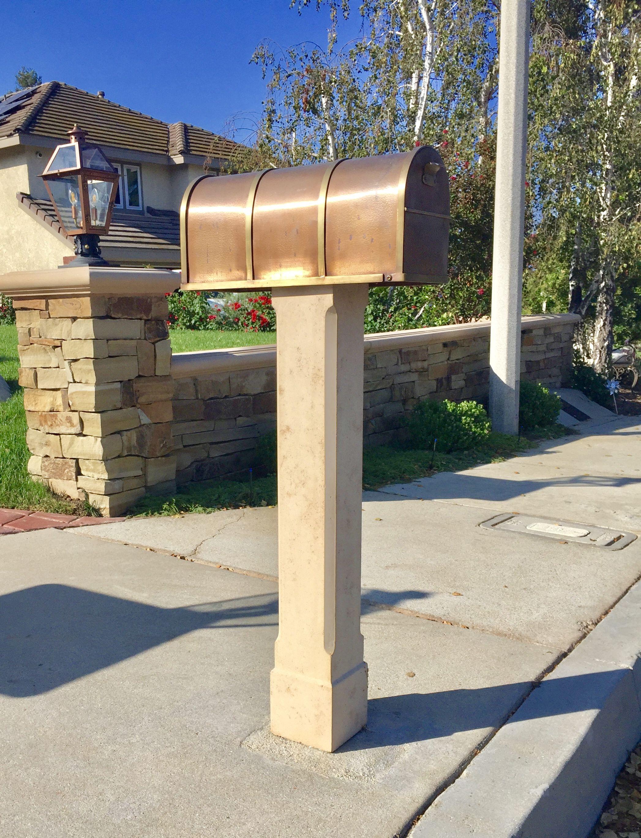 Cast Concrete Mailbox Post By Platt Stone Custom Mailboxes Mailbox Post Mailbox