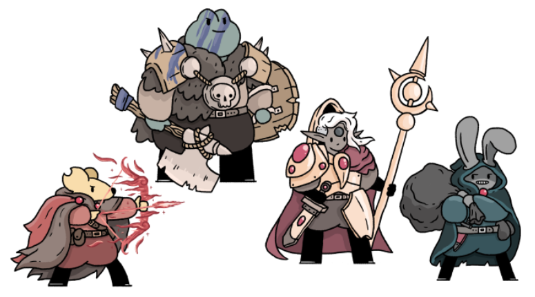 i m still having fun doing these so here are four more fantasy pals