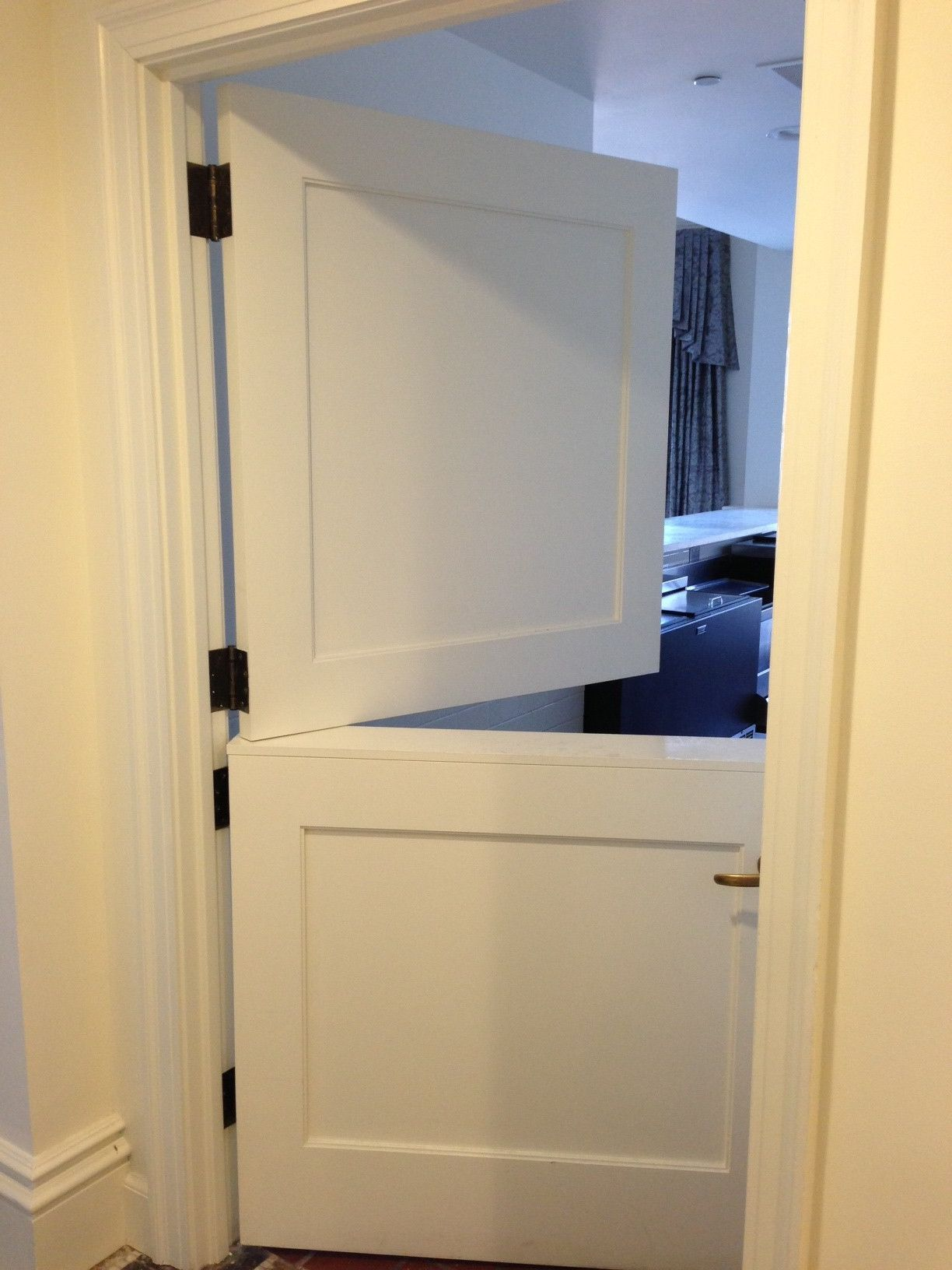 White Internal Le Doors To Keep The Kids Out Kitchen