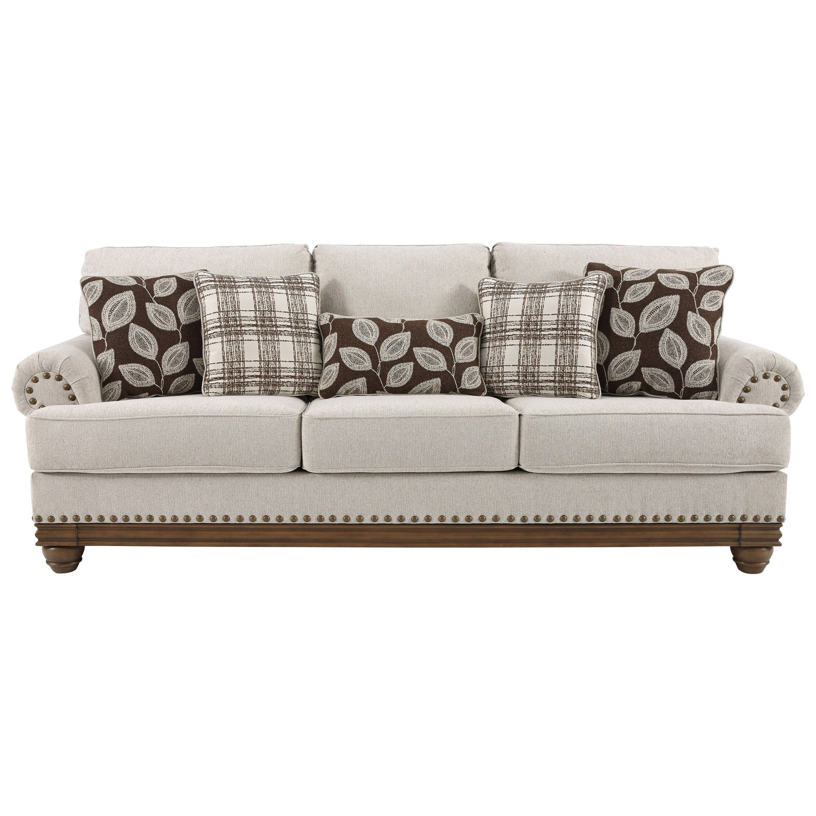 Harleson Transitional Sofa With Nailhead Trim By Signature Design