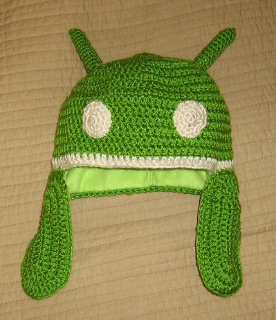 Android Hat with Arms  free pdf pattern from KnitProCro