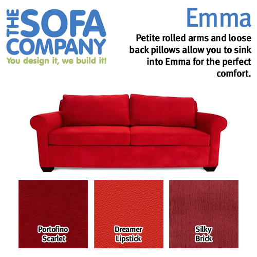 Petite rolled arms and loose back pillows allow you to sink into ...