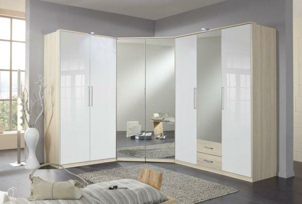 Eckkleiderschrank weiß mit spiegel  Eckkleiderschrank - praktische und moderne Interieur Lösung ...