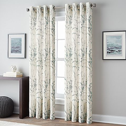 Botanical Grommet Top Window Curtain Panel From Bbb Love The Blue