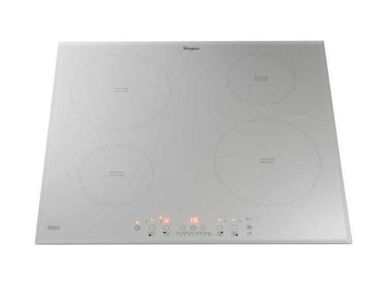 Whirlpool Acm804bas 60 Cm Electric Hob In Silver White Kitchen Appliances Hobs Induction Hob