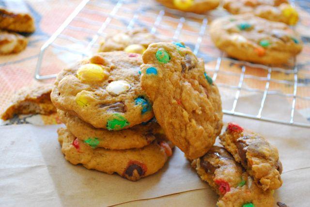 Pumpkin Pudding Monster Cookies